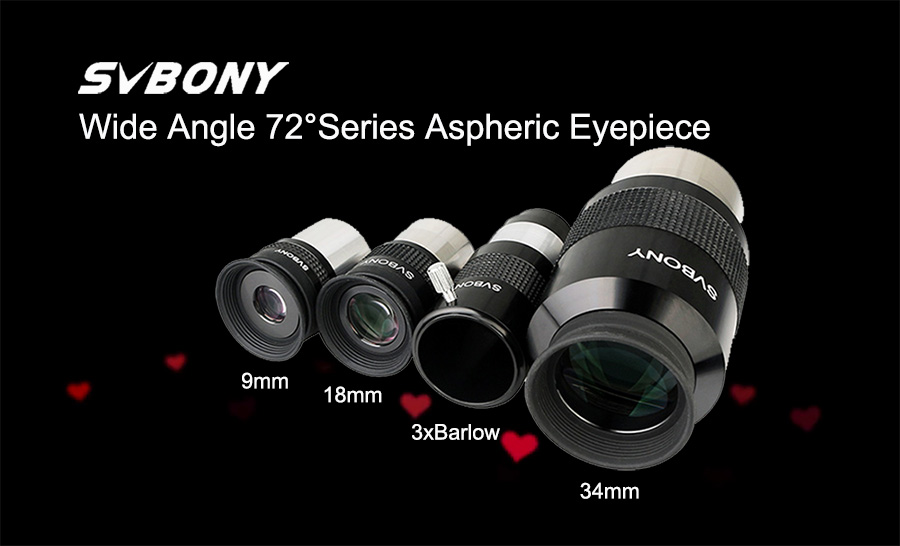 Svbony New Arrival 72 Degree Wide Angle Eyepieces