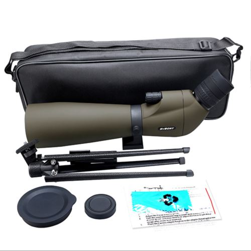 SV401 Army Green 20-60x80 Spotting Scope For Birdwatching Hunting