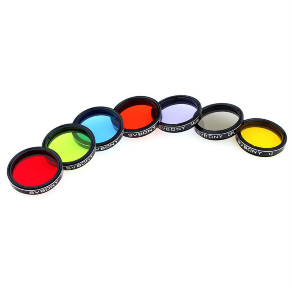"1.25 "" 7-Piece Filters Set for Moon Viewing"