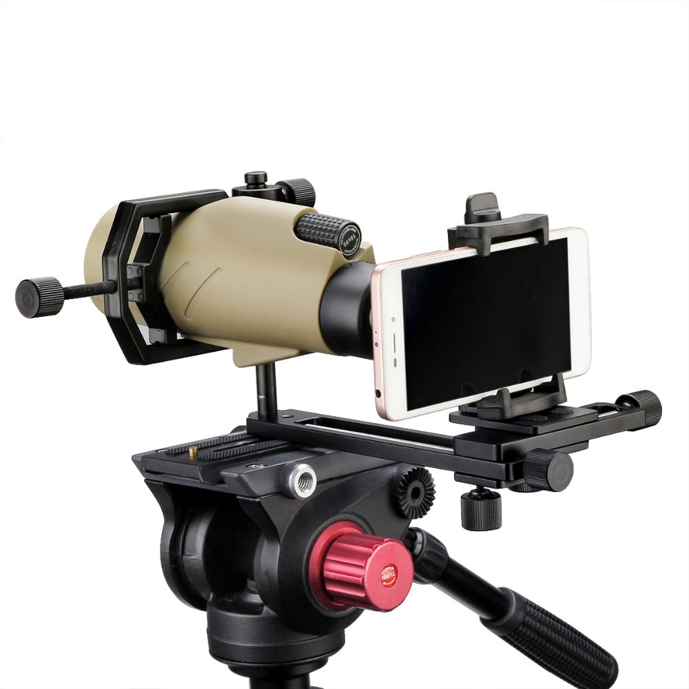 Svbony SV180 Phone Telescope Adapter with Platform Micro-motion and Adjusting Lever Bracket