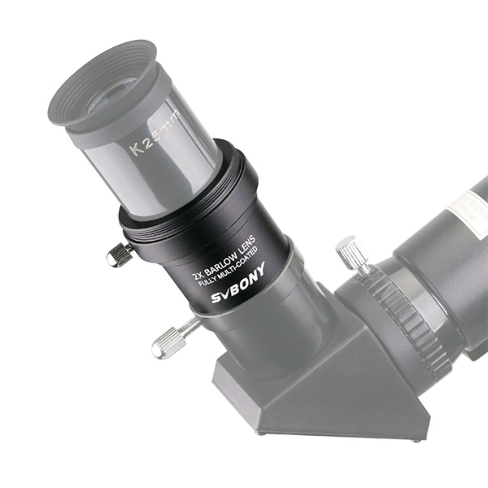Metal 2X Barlow Lens FMC w/ M42x0.75 Threads