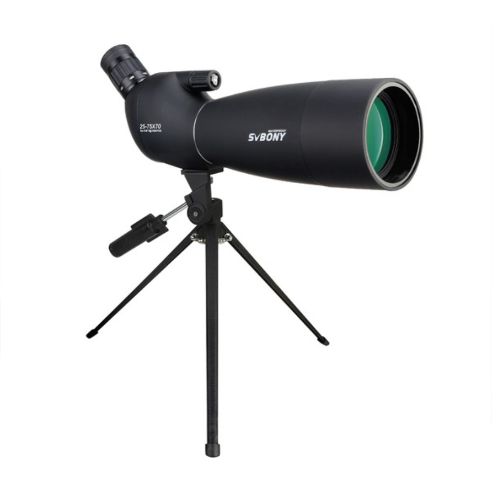 Svbony SV28 Black 25-75x70 Spotting Scope with Desktop Tripod