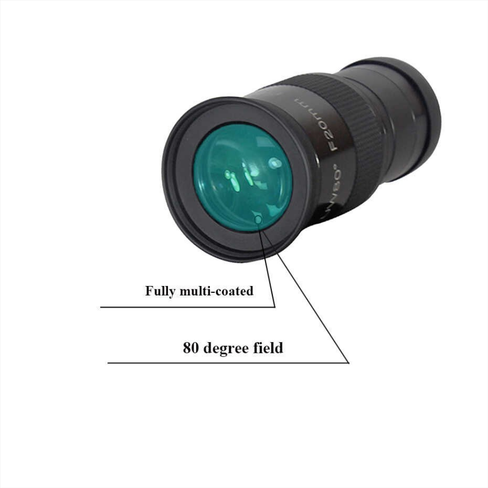 "2"" F20mm SWA 80 Degree Eyepiece for Astronomy Telescope"