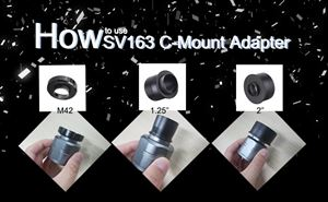 How to make the C mount cameras working with an astronomy telescope doloremque