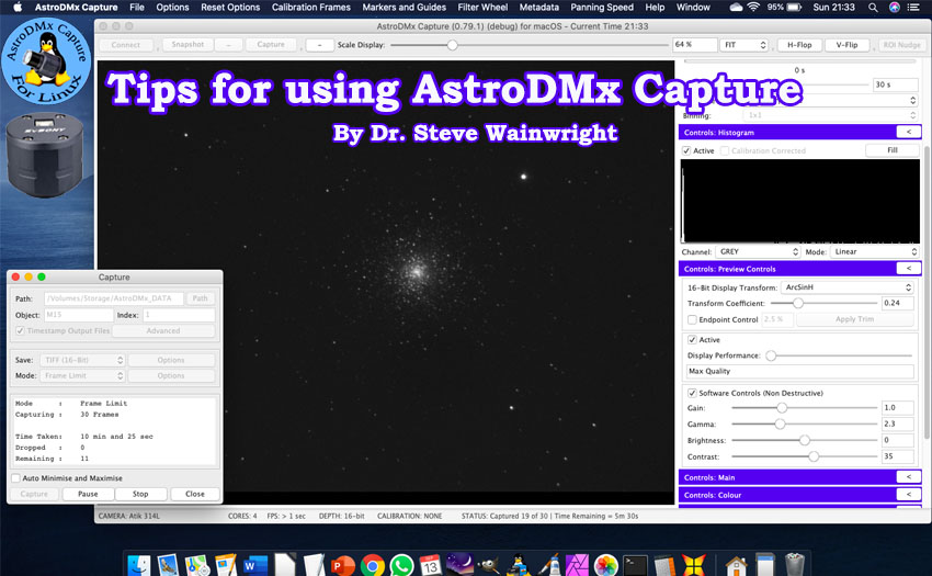 Tips for using AstroDMx Capture